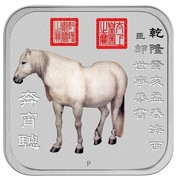Australia 1 Dollar Horse series - Andalusian horse 2014  P coin reverse