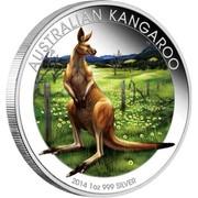 Australia 1 Dollar Kangaroo in Rural 2014  AUSTRALIA KANGAROO 2014 1 OZ 999 SILVER P TV coin reverse