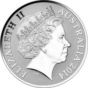 Australia 1 Dollar Kangaroos 2014 Proof ELIZABETH II AUSTRALIA 2014 IRB coin obverse