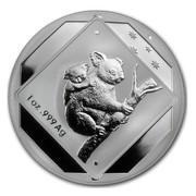 Australia 1 Dollar Koala Road Sign 2014  1 OZ .999 AG coin reverse