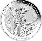 Australia 1 Dollar Kookaburra 2014 KM# 2117 AUSTRALIAN KOOKABURRA 2014 1 OZ 999 SILVER P NM coin reverse
