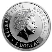 Australia 1 Dollar Kookaburra (Colorized) 2016 ELIZABETH II AUSTRALIA 1 DOLLAR IRB coin obverse