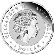 Australia 1 Dollar Kookaburras (Colorized) 2017  ELIZABETH II AUSTRALIA 1 DOLLAR IRB coin obverse