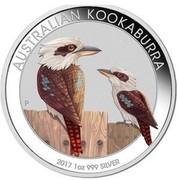 Australia 1 Dollar Kookaburras (Colorized) 2017  AUSTRALIAN KOOKABURRA 2017 1 OZ 999 SILVER P coin reverse