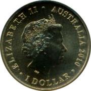 Australia 1 Dollar Lachlan Macquarie 2010  ELIZABETH II * AUSTRALIA 2010 IRB 1 DOLLAR coin obverse