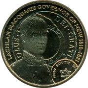 Australia 1 Dollar Lachlan Macquarie 2010  LACHLAN MACQUARIE GOVERNOR OF NSW 1810-1821 coin reverse
