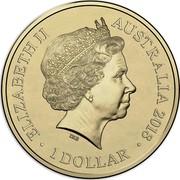 Australia 1 Dollar Lunar Dog (AlBr) 2018 ELIZABETH II AUSTRALIA 2018 1 DOLLAR IRB coin obverse