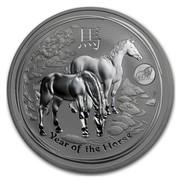 Australia 1 Dollar Lunar Horse (Lion Privy) 2014 YEAR OF THE HORSE P TV coin reverse