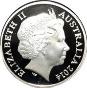 Australia 1 Dollar Mob of Roos 2014 Proof KM# 489.3 ELIZABETH II AUSTRALIA 2014 IRB coin obverse
