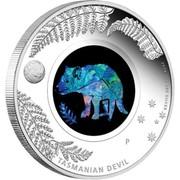 Australia 1 Dollar Opal Series Tasmanian Devil 2014  2014 1 OZ 999 SILVER TASMANIAN DEVIL P coin reverse