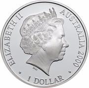 Australia 1 Dollar Paralympic Summer Games 2000 ELIZABETH II AUSTRALIA 2000 ∙ 1 DOLLAR ∙ IRB coin obverse