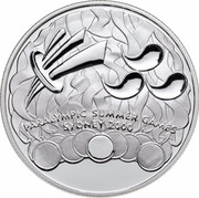 Australia 1 Dollar Paralympic Summer Games 2000 PARALYMPIC SUMMER GAMES SYDNEY 2000 coin reverse