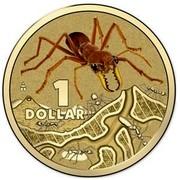 Australia 1 Dollar Red Bull Ant 2014  1 DOLLAR coin reverse