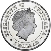 Australia 1 Dollar Red Kangaroo 2015 ELIZABETH II AUSTRALIA IRB 1 DOLLAR coin obverse