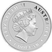 Australia 1 Dollar Saltwater Crocodile 2014 ELIZABETH II AUSTRALIA 1 DOLLAR IRB coin obverse