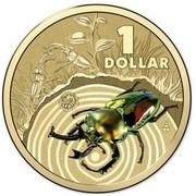 Australia 1 Dollar Stag Beetle 2014  1 DOLLAR coin reverse
