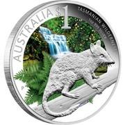 Australia 1 Dollar Tasmanian Wilderness 2011 AUSTRALIA $1 TASMANIAN WILDERNESS 1 OZ 999 SILVER P RV coin reverse