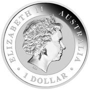 Australia 1 Dollar The Australian Stock Horse 2014  ELIZABETH II AUSTRALIA ∙ 1 DOLLAR ∙ coin obverse