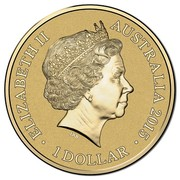 Australia 1 Dollar Unlikely Heroes Great and Small - Feline Mascot 2015  ELIZABETH II AUSTRALIA 2015 1 DOLLAR IRB coin obverse