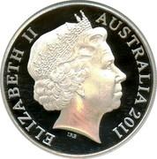 Australia 1 Dollar VOC Zuytdorp 2011 ELIZABETH II * AUSTRALIA 2011 coin obverse