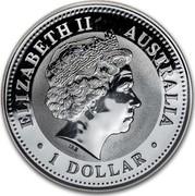Australia 1 Dollar Year of the Dog - German Shepard (Colorized) 2006 ELIZABETH II AUSTRALIA 1 DOLLAR IRB coin obverse