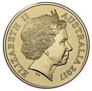 Australia 1 Dollar Year of the Rooster Lunar 2017  ELIZABETH II AUSTRALIA 2017 IRB coin obverse