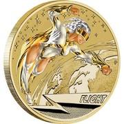 Australia 1 Dollar Young Collectors Super Powers - Flight 2014  FLIGHT P TV coin reverse