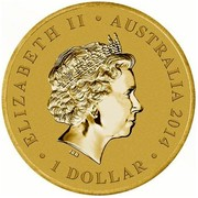 Australia 1 Dollar Young Collectors Super Powers Series - Cybernetics 2014  ELIZABETH II AUSTRALIA 2014 1 DOLLAR IRB coin obverse