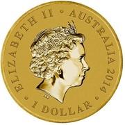 Australia 1 Dollar Young Collectors Super Powers Series - Invisibility 2014  ELIZABETH II AUSTRALIA 2014 1 DOLLAR IRB coin obverse