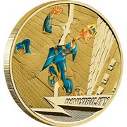 Australia 1 Dollar Young Collectors Super Powers Series - Invisibility 2014  INVISIBILITY P TV coin reverse
