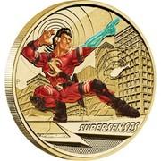 Australia 1 Dollar Young Collectors Super Powers Series - Super Senses 2014  SUPERSENSES P TV coin reverse