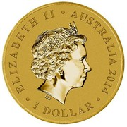 Australia 1 Dollar Young Collectors Super Powers - Super Strength 2014  ELIZABETH II AUSTRALIA 2014 1 DOLLAR IRB coin obverse