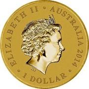 Australia 1 Dollar Young Collectors Super Powers - Weather Control 2014  ELIZABETH II AUSTRALIA 2014 1 DOLLAR IRB coin obverse