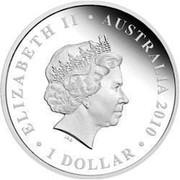 Australia $1 Northern Territory - Saltwater Crocodile 2010 ELIZABETH II AUSTRALIA 2010 1 DOLLAR IRB coin obverse