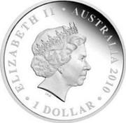 Australia $1 Tasmania 2010 ELIZABETH II AUSTRALIA 2010 1 DOLLAR IRB coin obverse