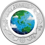 Australia 10 Cents Earth 2017 EARTH coin reverse