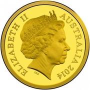 Australia 10 Dollars A Voyage to Terra Australis 2014 KM# 2163 ELIZABETH II AUSTRALIA 2014 IRB coin obverse