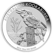 Australia 10 Dollars Australian Kookaburra 2016  AUSTRALIAN KOOKABURRA P 2016 10OZ 999 SILVER coin reverse