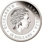 Australia 10 Dollars Australian Kookaburra 2018 ELIZABETH II AUSTRALIA 10 DOLLARS IRB coin obverse