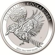 Australia 10 Dollars Australian Kookaburra 2018 AUSTRALIAN KOOKABURRA 2018 10 OZ 9999 SILVER P NH coin reverse