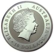 Australia 10 Dollars Koala and joey 2011 ELIZABETH II AUSTRALIA 10 DOLLARS IRB coin obverse