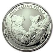 Australia 10 Dollars Koala and joey 2011 AUSTRALIAN KOALA 2011 10 OZ 999 SILVER P EM coin reverse