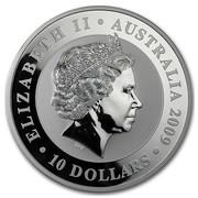 Australia 10 Dollars Koala on a tree branch 2009 ELIZABETH II AUSTRALIA 2009 10 DOLLARS IRB coin obverse