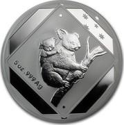 Australia 10 Dollars Koala Road Sign 2014 5 OZ .999 AG coin reverse