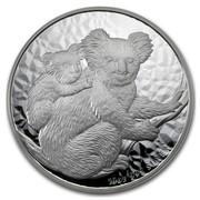 Australia 10 Dollars Koalas on a tree branch 2008 10 OZ 999 SILVER P coin reverse