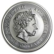 Australia 10 Dollars Kookaburra looking right 2003 ELIZABETH II AUSTRALIA 10 DOLLARS IRB coin obverse