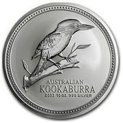 Australia 10 Dollars Kookaburra looking right 2003 AUSTRALIAN KOOKABURRA 2003 10 OZ. 999 SILVER coin reverse