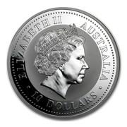 Australia 10 Dollars Kookaburra on a branch 2005 ELIZABETH II AUSTRALIA 10 DOLLARS IRB coin obverse