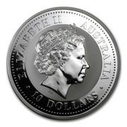Australia 10 Dollars Kookaburra perched on a tree branch 2009 ELIZABETH II AUSTRALIA 10 DOLLARS IRB coin obverse