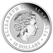 Australia 10 Dollars Kookaburras 2017 ELIZABETH II AUSTRALIA 10 DOLLARS IRB coin obverse